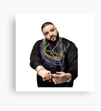 DJ Khaled w/ Beads  Canvas Print