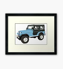 Roscoe the Jeep! Framed Print