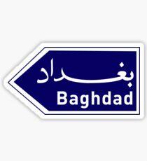 Baghdad, Road Sign, Iraq Sticker