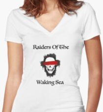 Dragon Age Raiders Of the Waking Sea Women's Fitted V-Neck T-Shirt