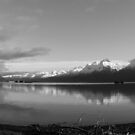 Dock Point ~ Panoramic B&W by akaurora