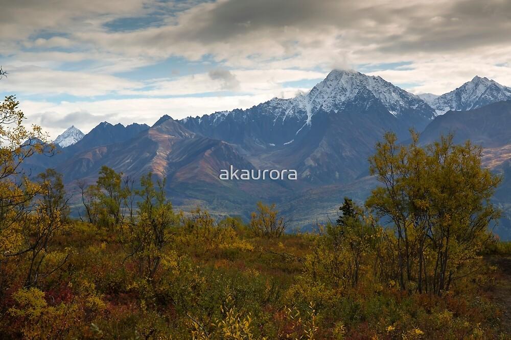 STOCK ~ Fall Reaches Towards The Chugach by akaurora