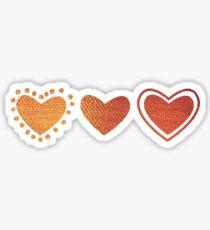 3 hearts Sticker