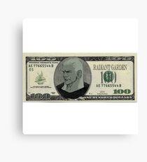 Kingdom Hearts 100$ Bill Canvas Print