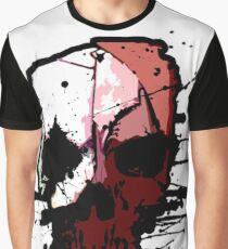 Skull Waterpaint  Graphic T-Shirt