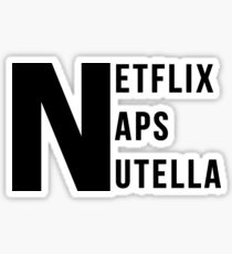 Netflix Naps Nutella Sticker