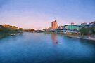 Adelaide Riverbank at Sunset   (OG) by Raymond Warren