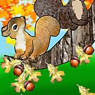 Squirrel with Acorn (2749  Views) by aldona