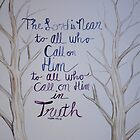Psalm 145:18 Watercolor Painting by ArtLuver