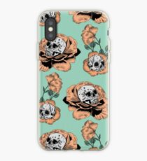 Flower Skull Pattern iPhone Case