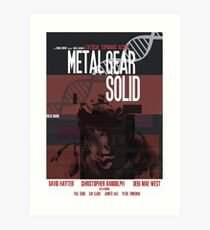 Solid - Metal Gear Art Print