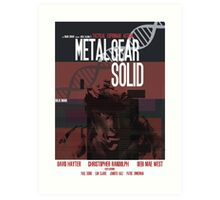 Solid - Metal Gear Art Print