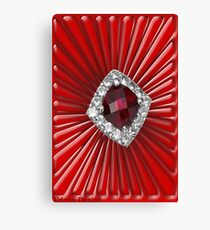 Red Pattern with a ruby  (2738 views) Canvas Print