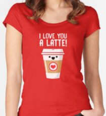 Latte Love Women's Fitted Scoop T-Shirt