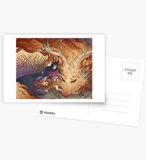 Slumber - Kitsune Fox Dragon Postcards