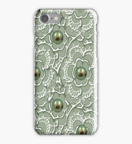 Lace & Pearls 1384 Views iPhone Case/Skin