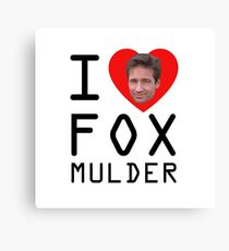 I Heart Fox Mulder Canvas Print