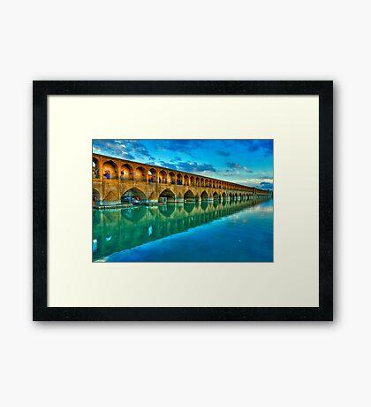 Si-o-Seh Pol (Bridge) - Isfahan - Iran - Daylight Framed Print