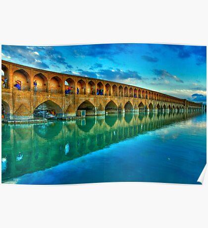 Si-o-Seh Pol (Bridge) - Isfahan - Iran - Daylight Poster
