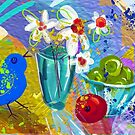 Bird Song, digital illustration by Alma Lee by Alma Lee