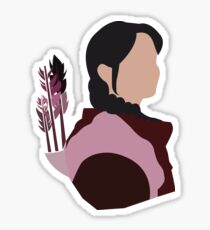 Katniss in Purple Sticker