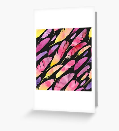 - Watercolor feathers 2 - Greeting Card