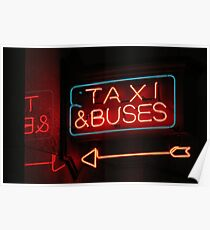 taxis & buses Poster