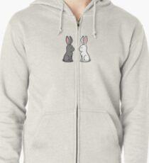 Snow Bunnies Zipped Hoodie