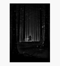 Kylo Ren forest print Photographic Print