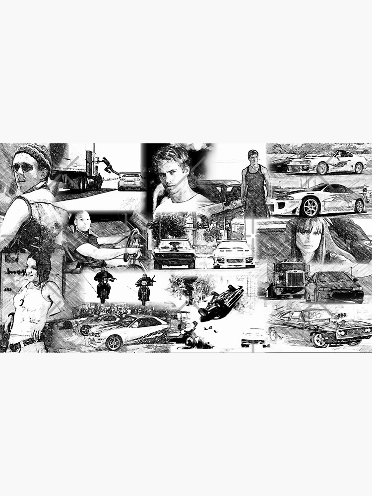 The Fast And The Furious Collage Photographic Print By Coolness68