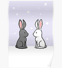 Snow Bunnies Poster
