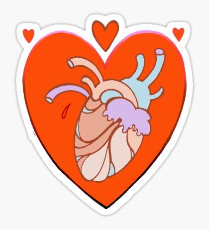 heart in heart, valentine tattoo art Sticker