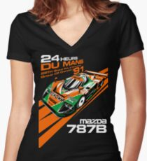 DU Mans Mazda 787B Women's Fitted V-Neck T-Shirt