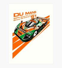 DU Mans Mazda 787B Art Print