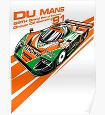 DU Mans Mazda 787B Poster