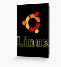 Linux Ubuntu Greeting Card