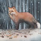 Red Fox in a Snowstorm by Ray Shuell