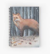 Red Fox in a Snowstorm Spiral Notebook