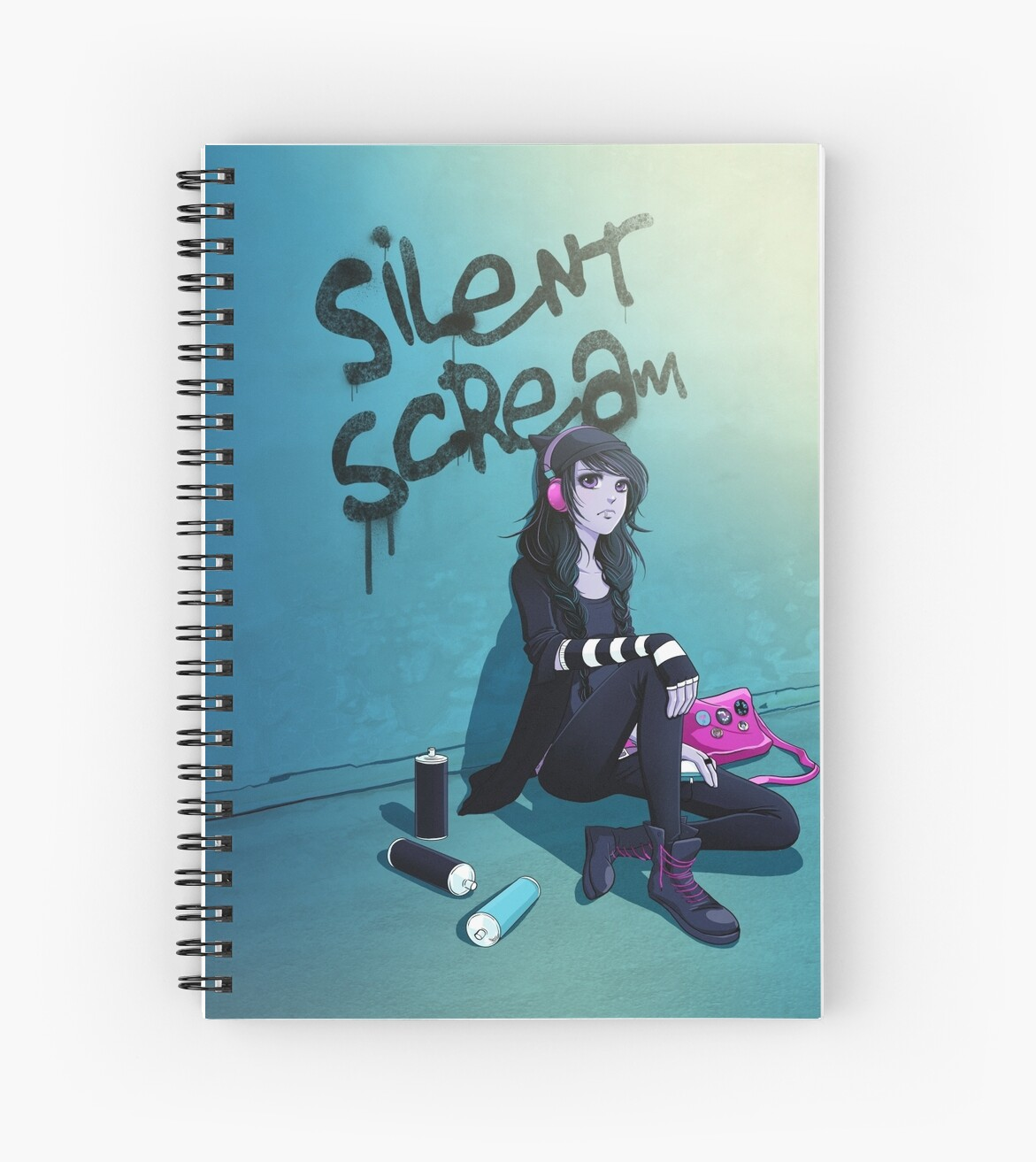 Case Ih Home Decor Quot Zoe Silent Scream Quot Spiral Notebooks By Anna Blue Redbubble