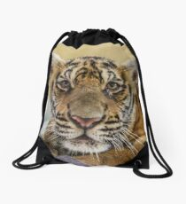 Thai baby tiger cub Drawstring Bag