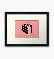 Portal, cake is a lie Framed Print