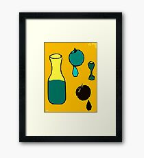 FRUIT JUICE Framed Print