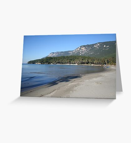 A Deserted Beach An Unspoiled Beauty Greeting Card