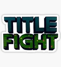 Floral Green Title Fight Sticker