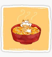 Kitty Noodle Soup Sticker