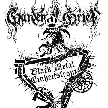 """Einheitsfront Sigil: """"Black Metal Einheitsfront"""" & Logo (GREY) by gardenofgrief"""