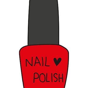 Nail Polish Bottle - Red by LaylaDiGiacomo