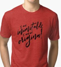 Wait For It - Black Text Tri-blend T-Shirt