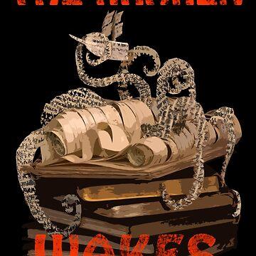 The Kraken Wakes steampunk book art by daysfall