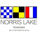 NORRIS LAKE, TENNESSEE Nautical Flag Art by MyHandmadeSigns